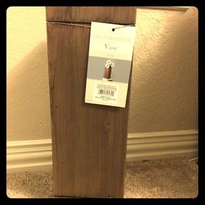 NEW W/ TAGS WOODEN VASE!!!